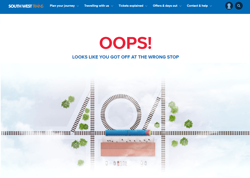 creative 404 pages