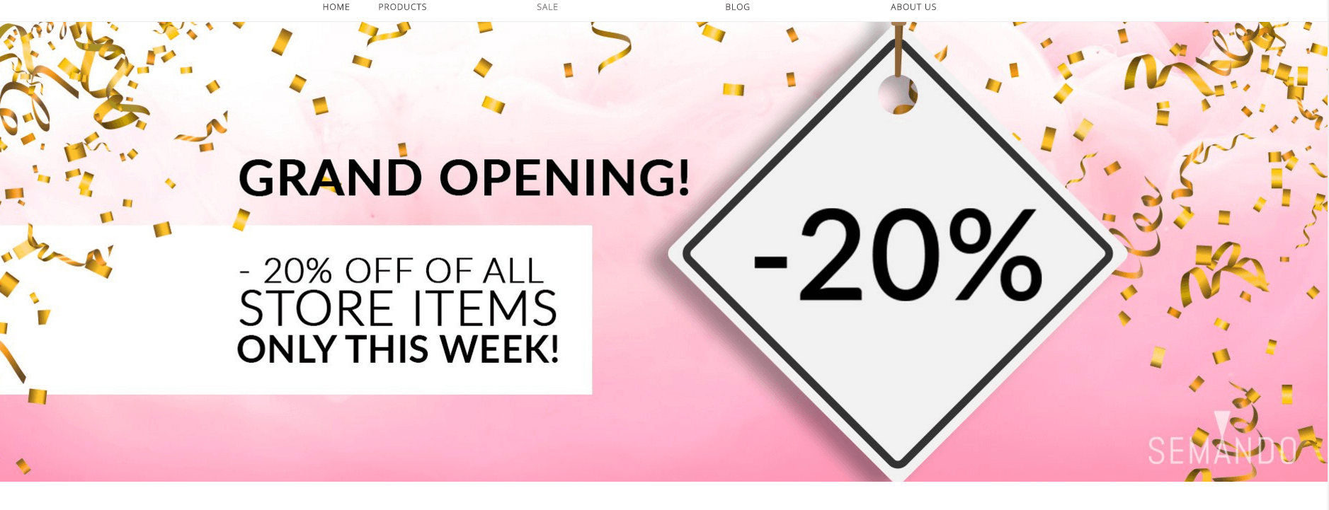 Online store open promo 10