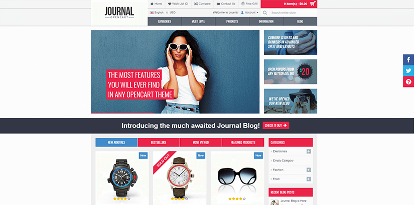 The most popular Ecommerce templates for 2017 - Tendrik
